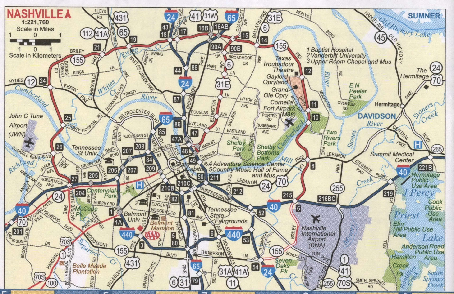 Nashville road map