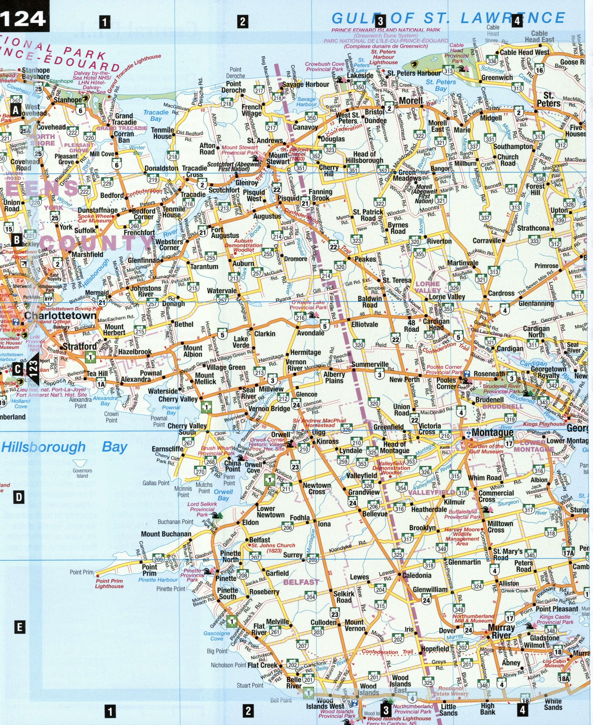 Map of Kings county Newfoundland Canada