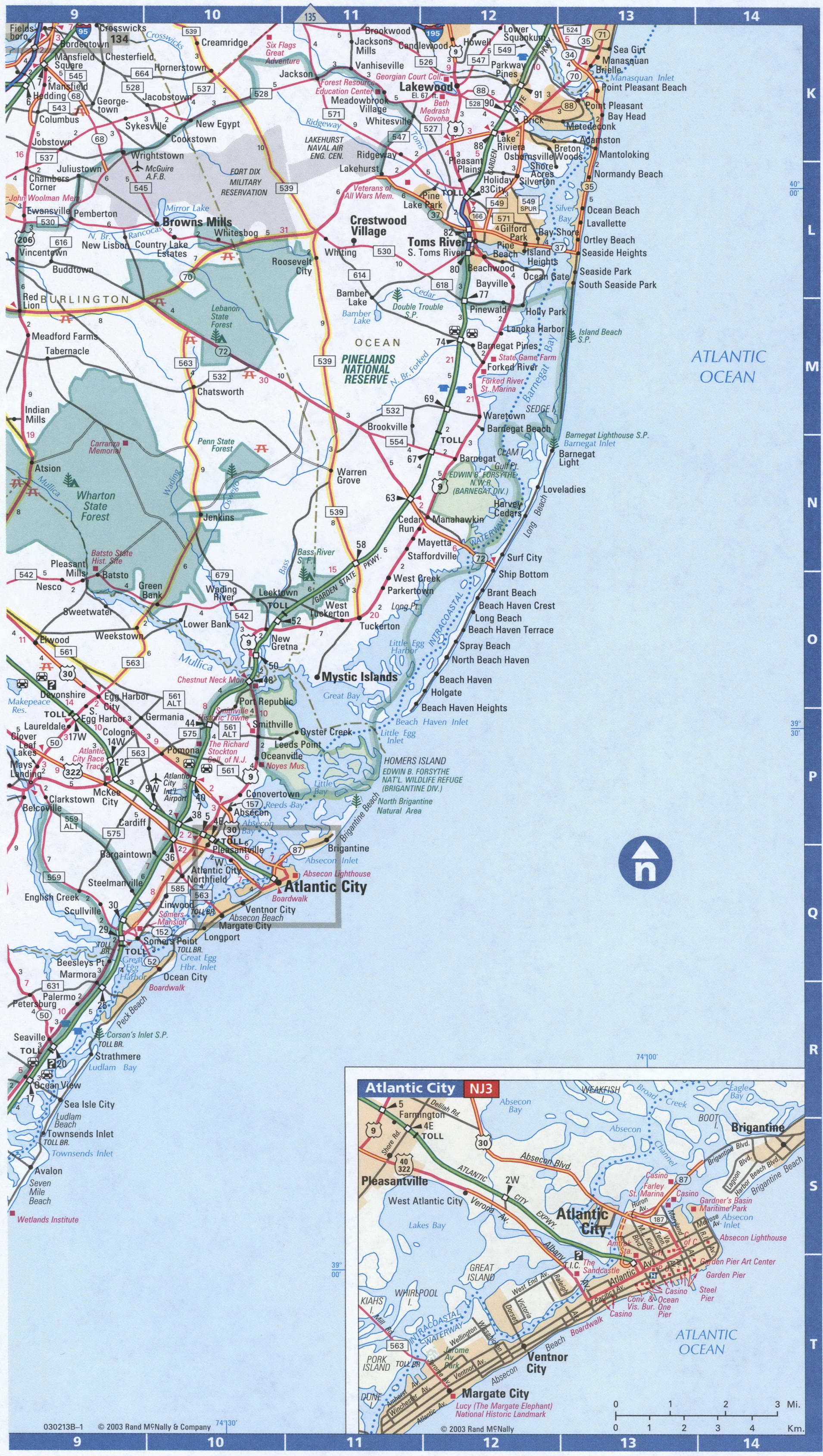 New Jersey SouthEast map
