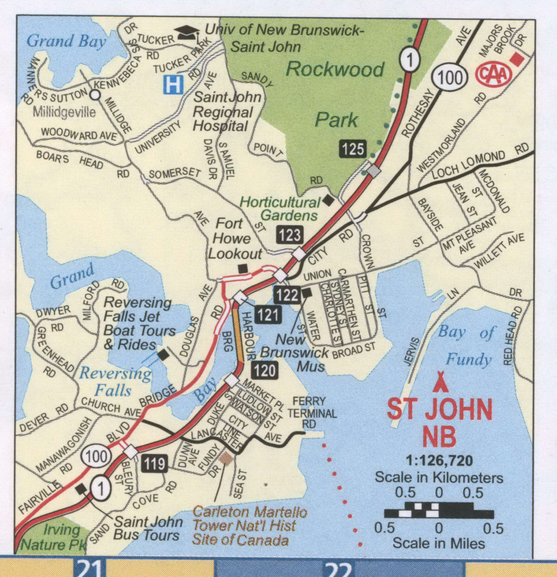 St John NB road map