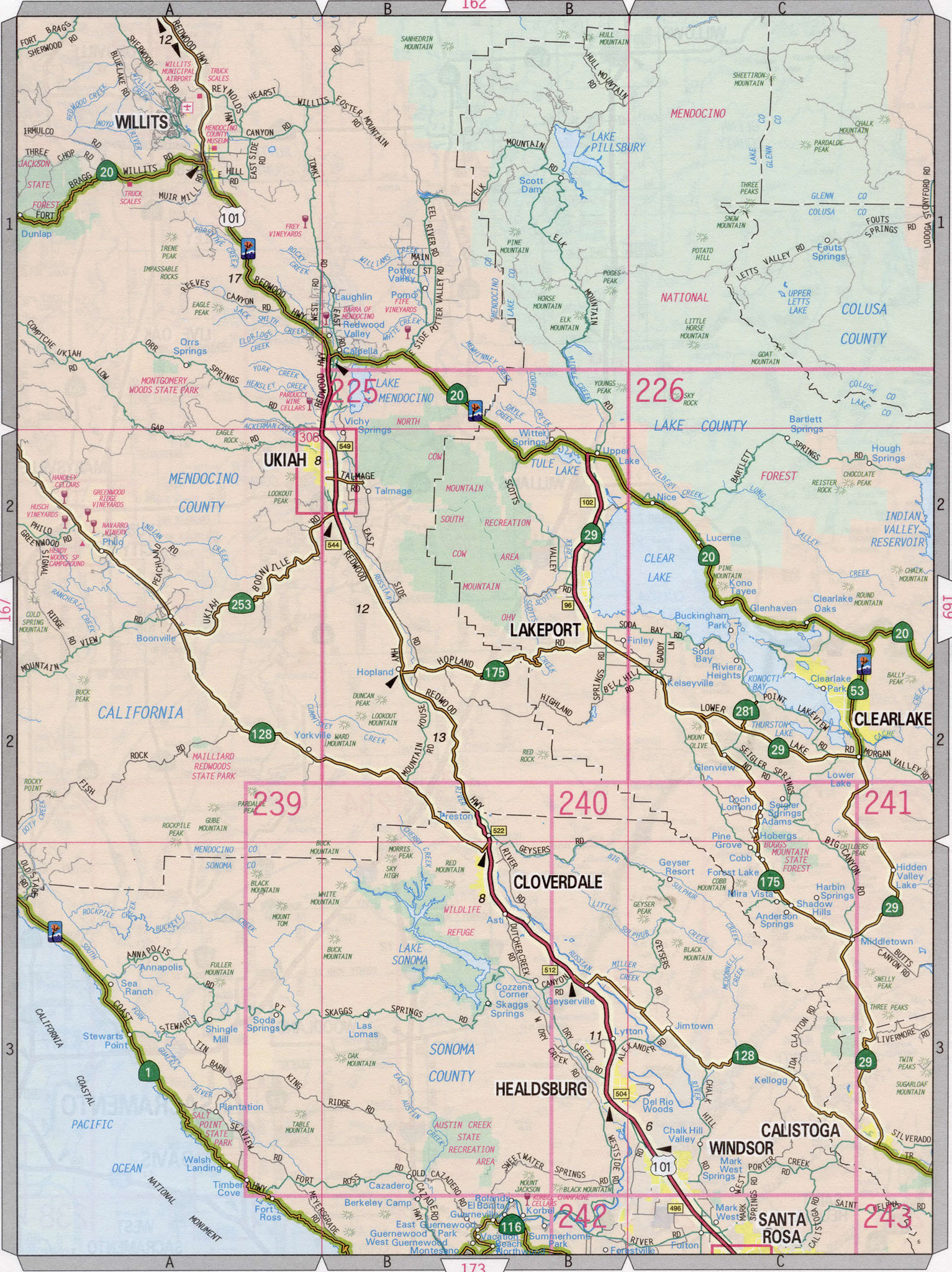 Sonoma county highway map on detailed map of nevada county, detailed map of kern county, detailed map of ventura county, detailed map of hillsborough county, detailed map of riverside county, detailed map of stanislaus county, detailed map of fresno county, detailed map of orange county,