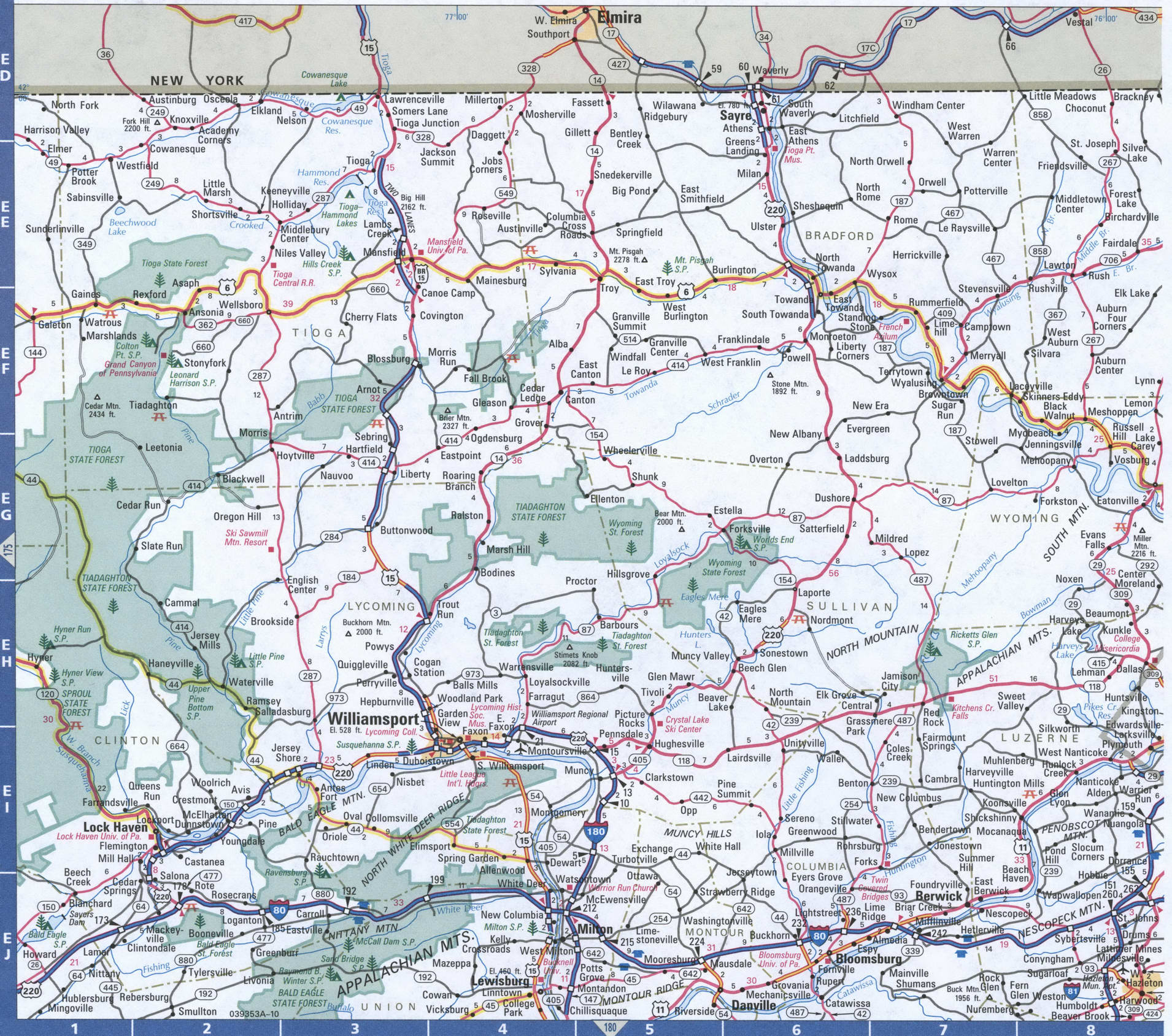 Picture of: Map Of Pennsylvania Northeastern Free Highway Road Map Pa With Cities Towns Counties Atlas Usa