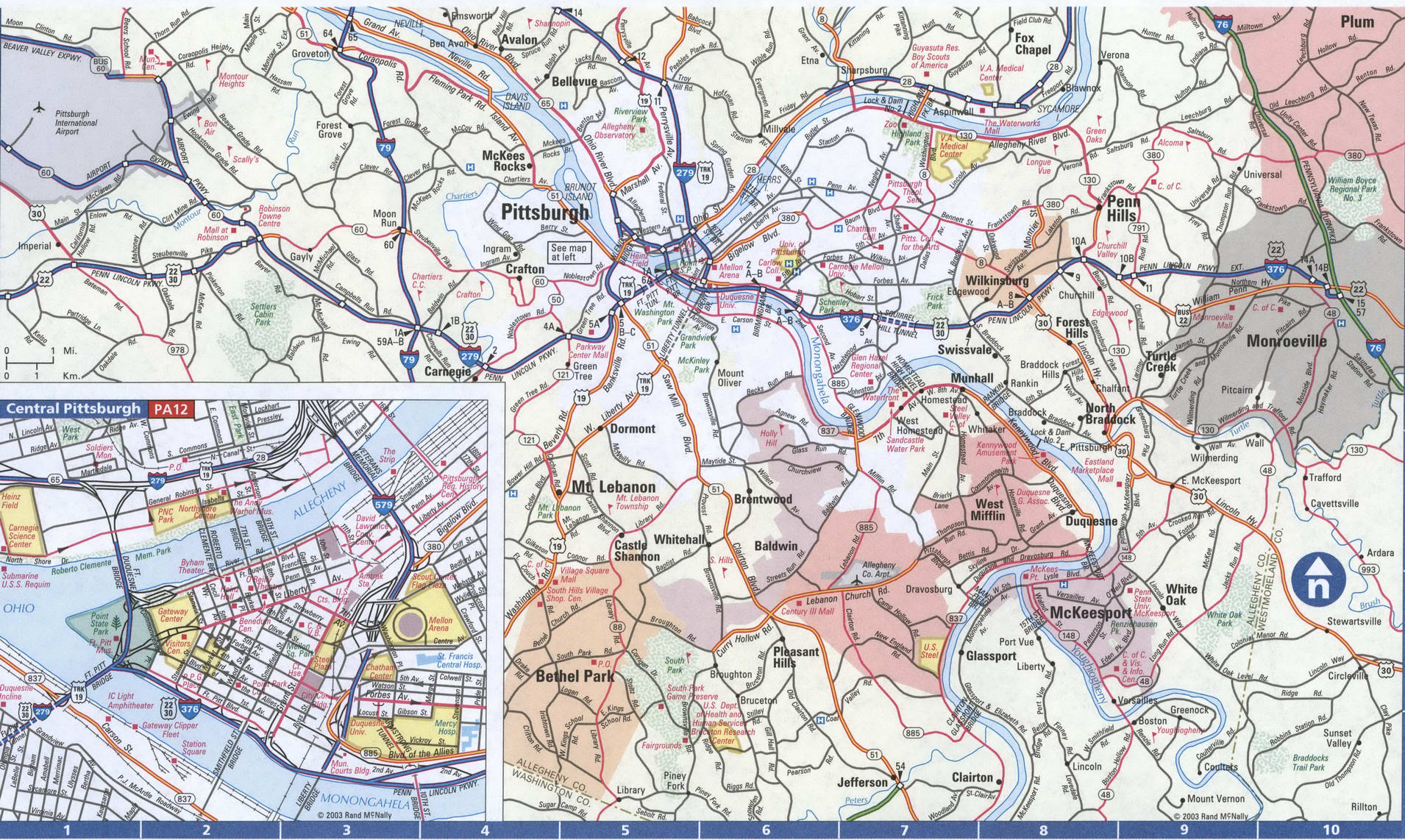 Image of: Map Of Pennsylvania Philadelphia Detailed Map With Highways Streets Shopping Centers Atlas Usa