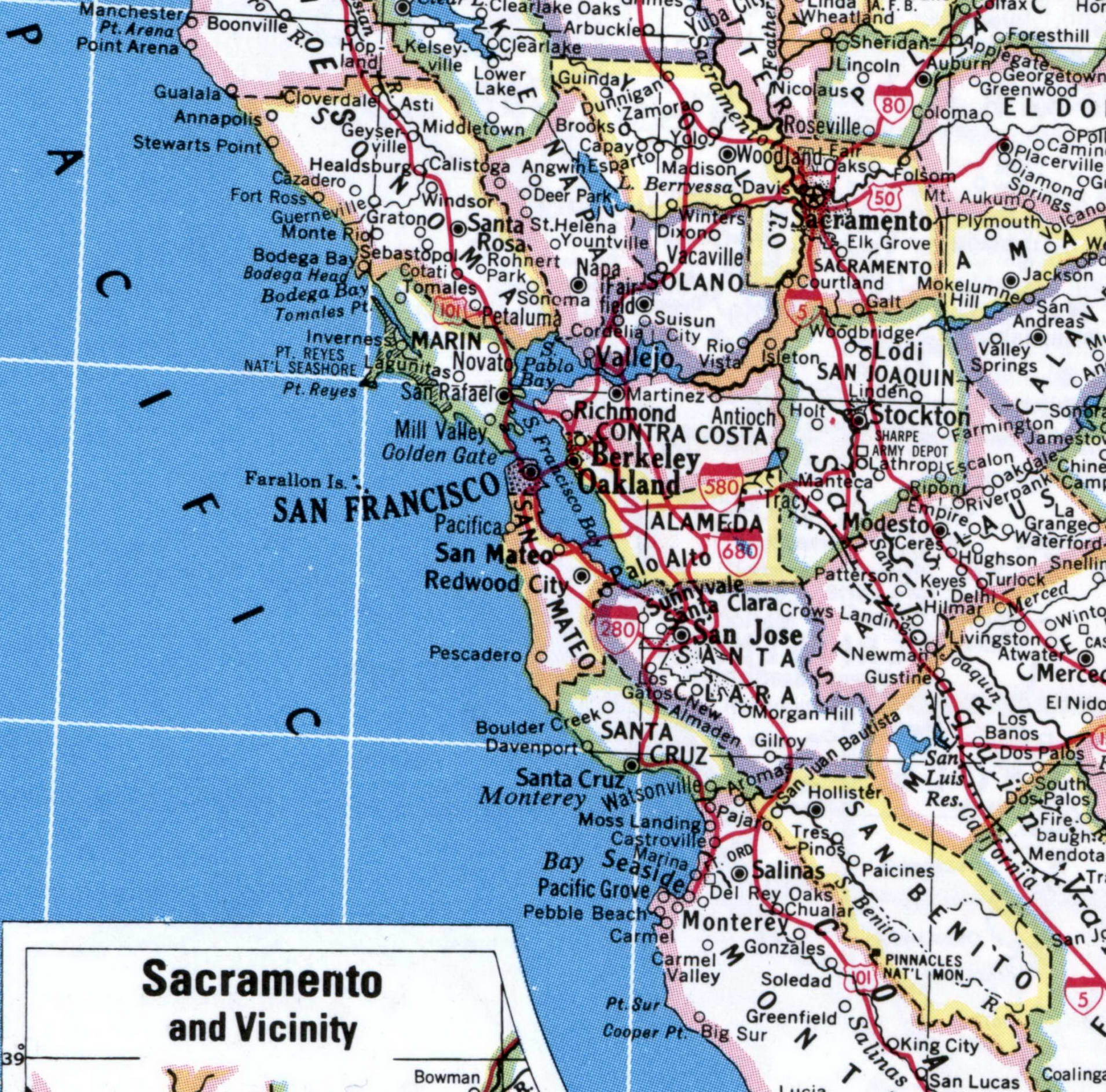 Map Of San Francisco Bay Area Region Of California Atlas Usa Our free san francisco tourist maps are featured in bay city guide magazine and are available online for free download. map of san francisco bay area region of