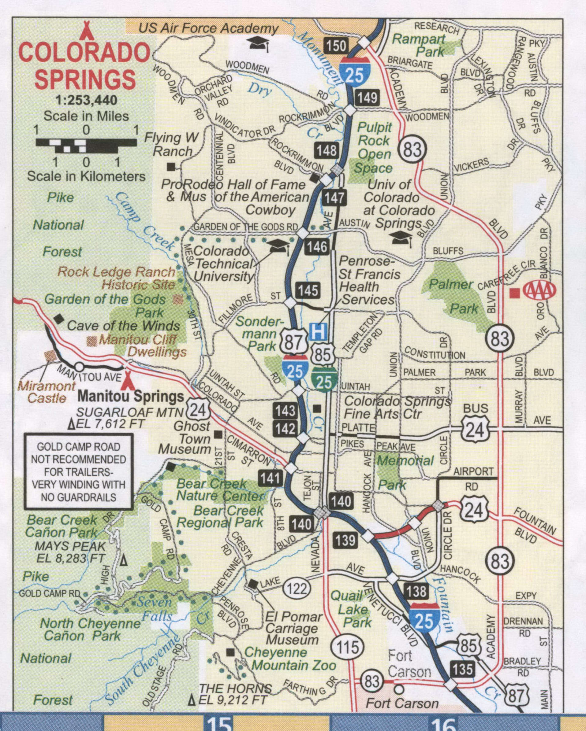 Colorado Springs road map