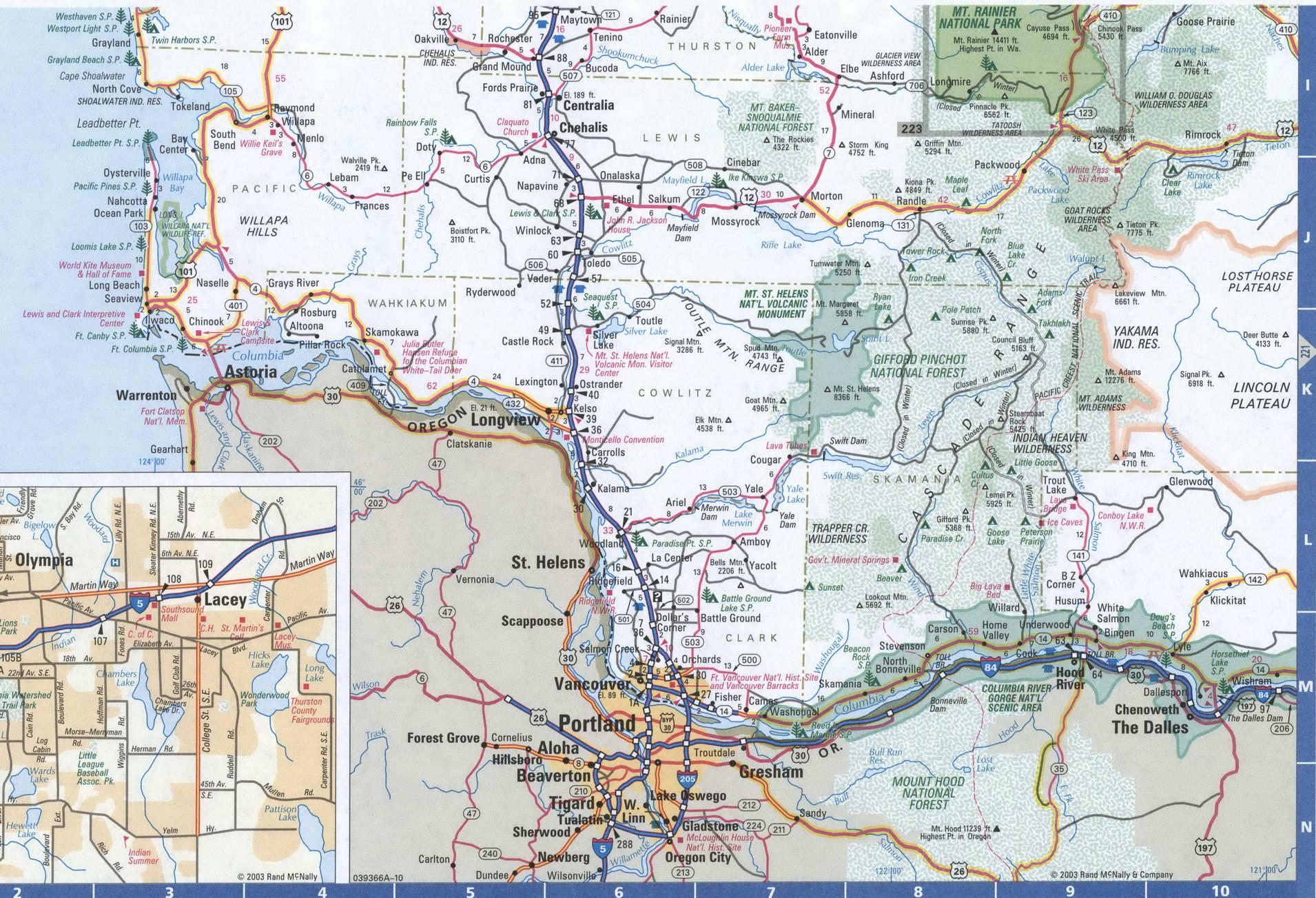 Map Of Washington Western Atlas Usa