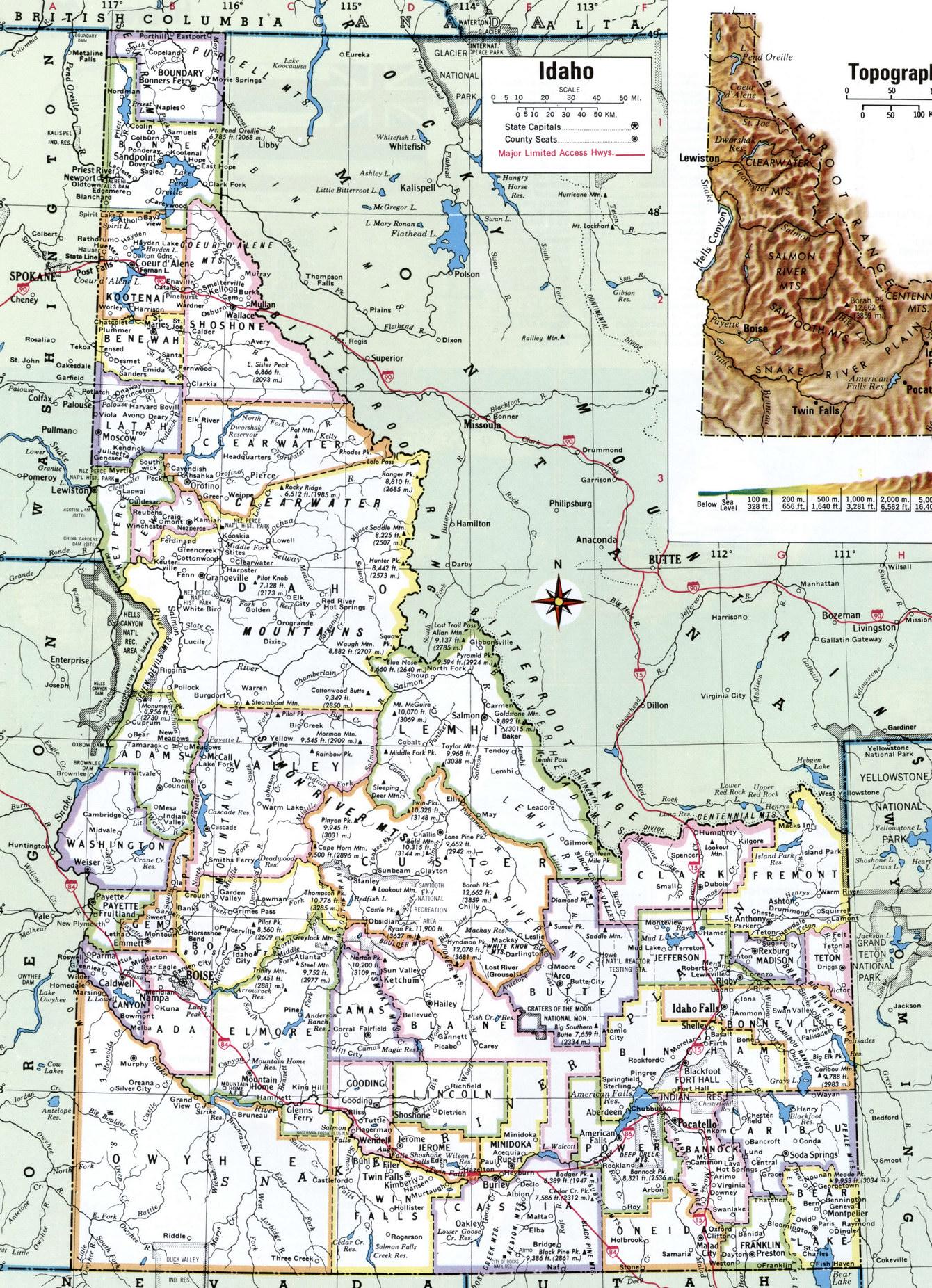 Idaho County - Idaho county map
