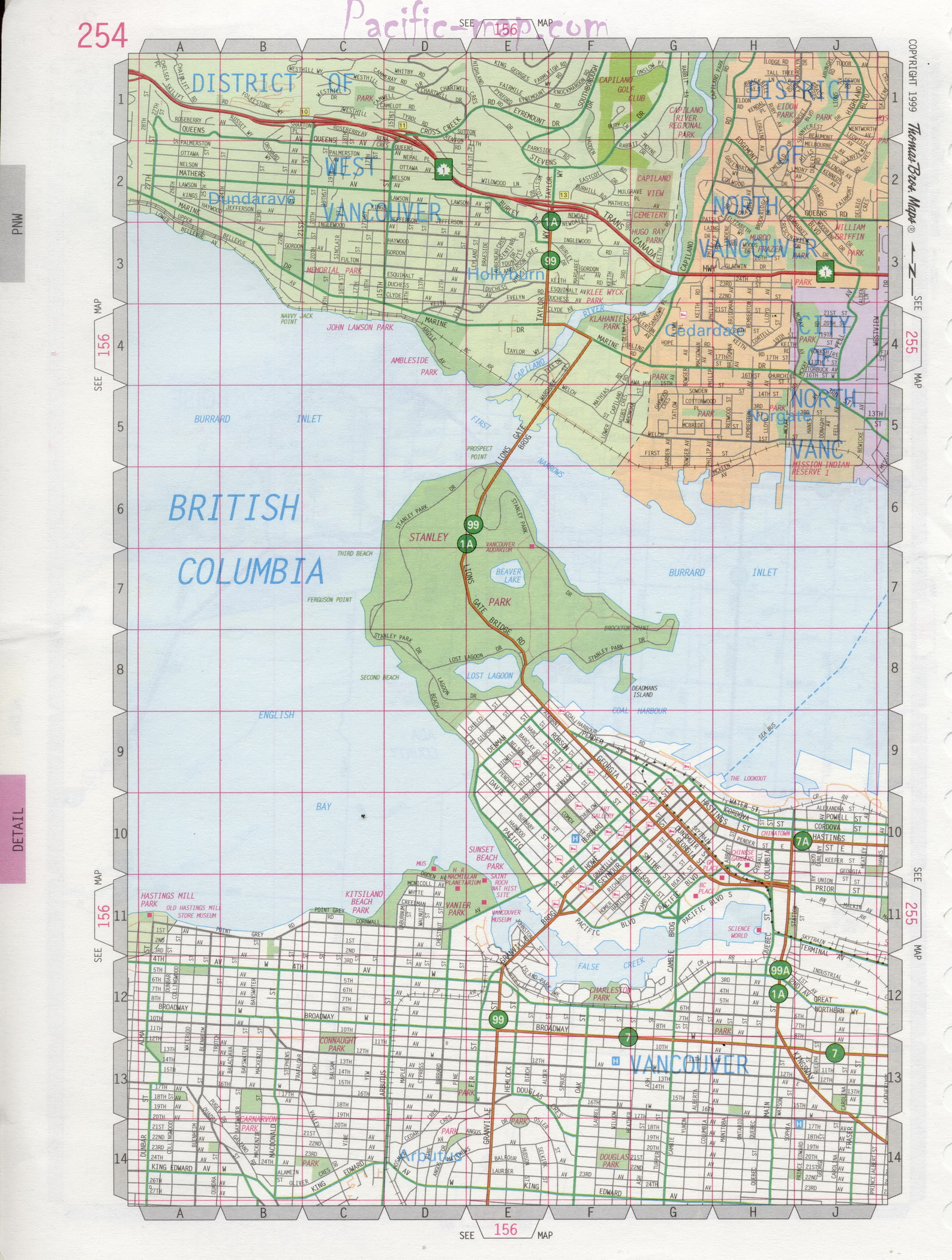 Map Of West Vancouver Bc Canada Map of West Vancouver in BC Canada, city map of West Vancouver for