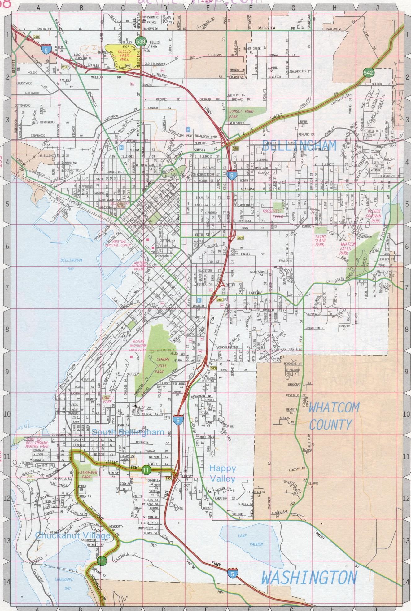 Bellingham map on