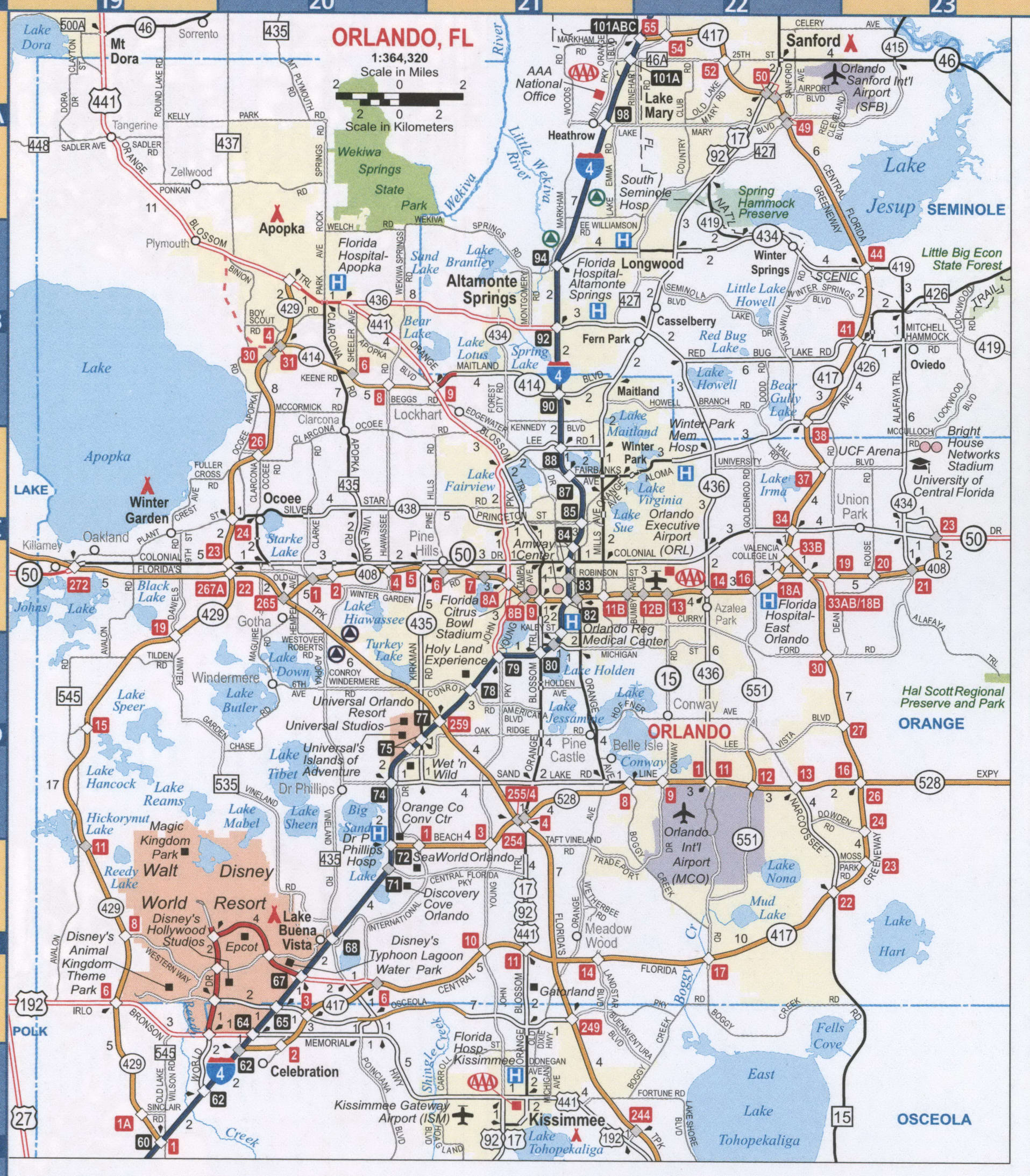 Orlando FL road map
