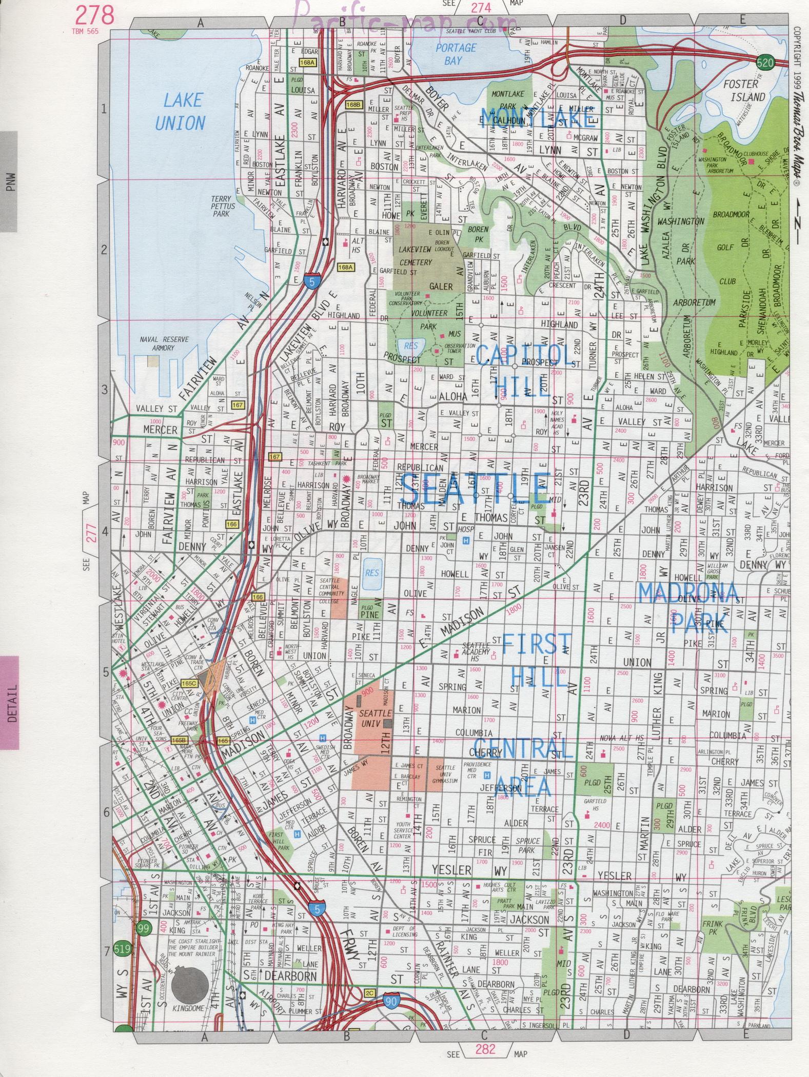 Seattle WA road map