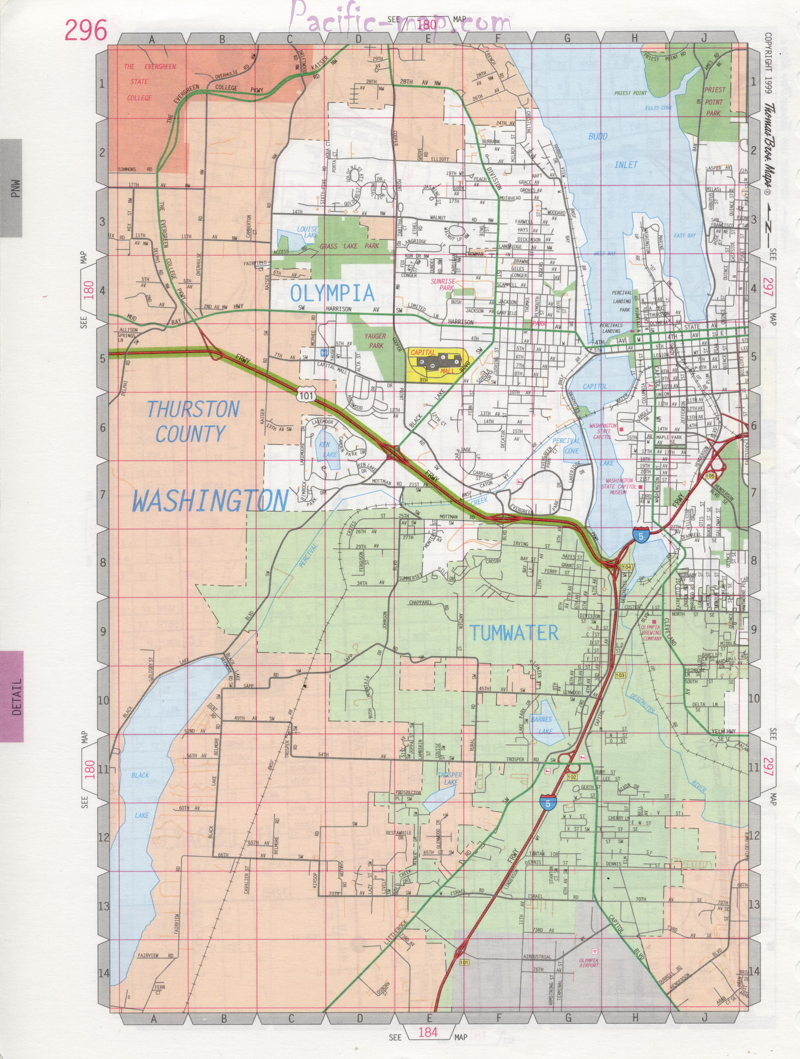 Tumwater road map