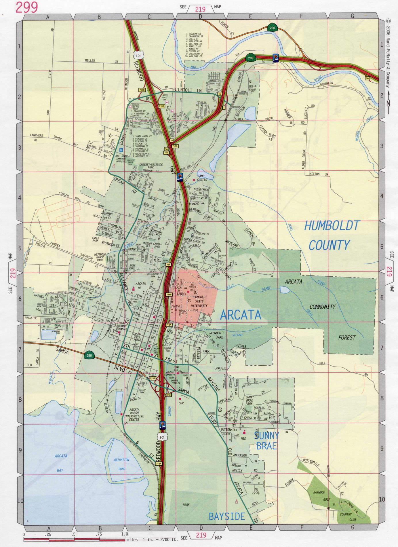 Arcata city road map