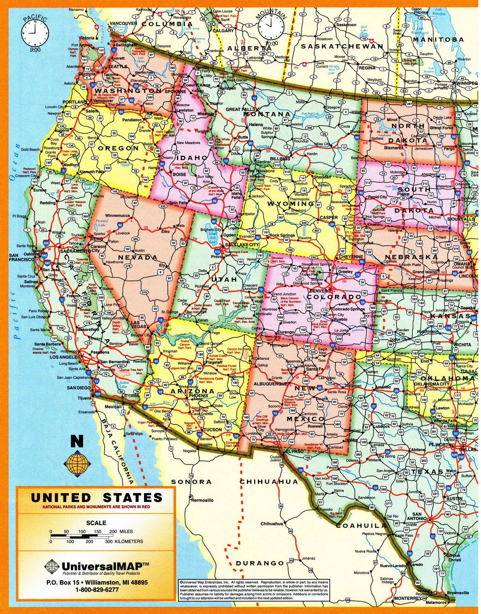 Time Zone Us Map Of Usa With Time Zone Atlas Usa