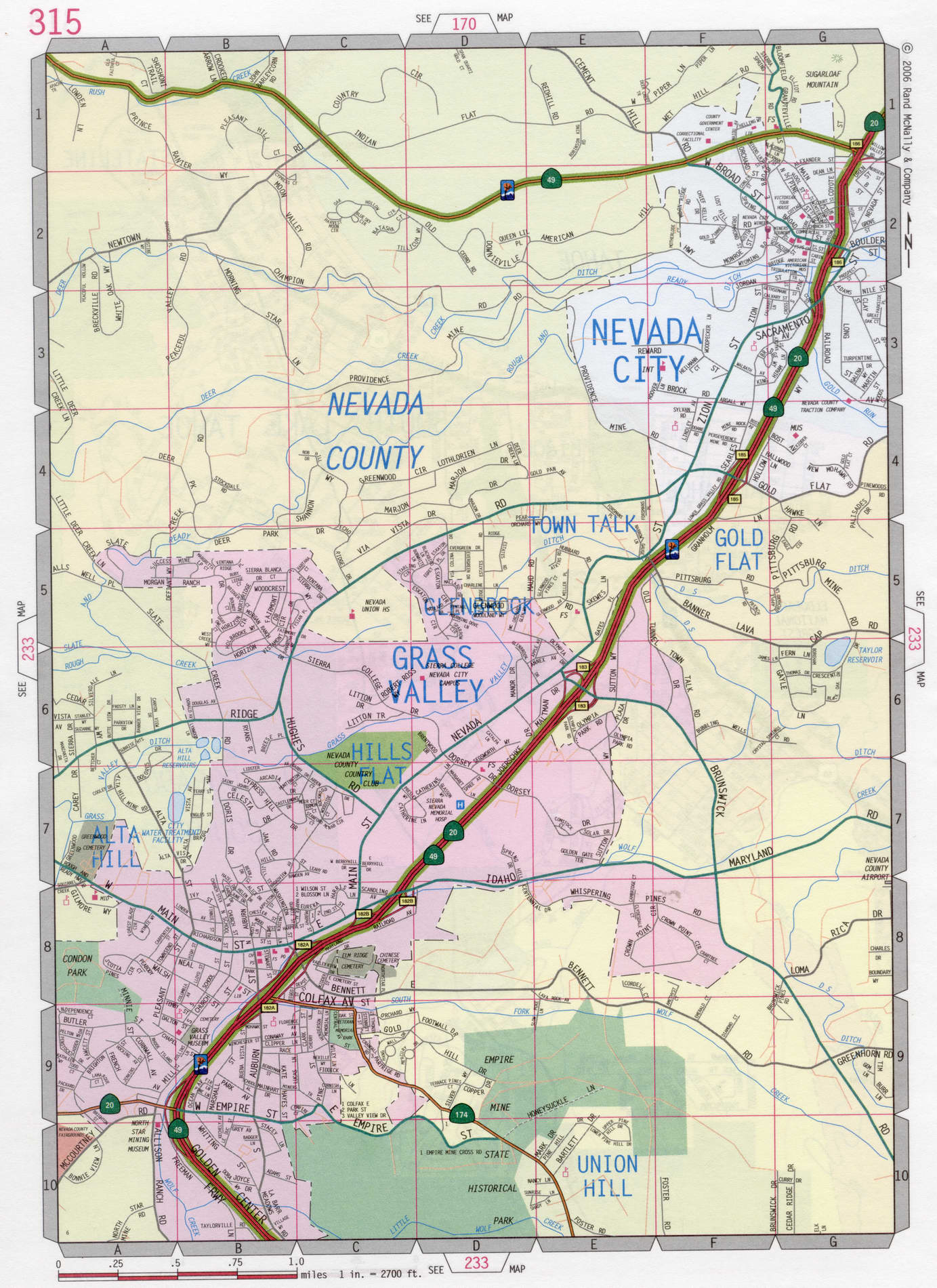 Grass Valley road map