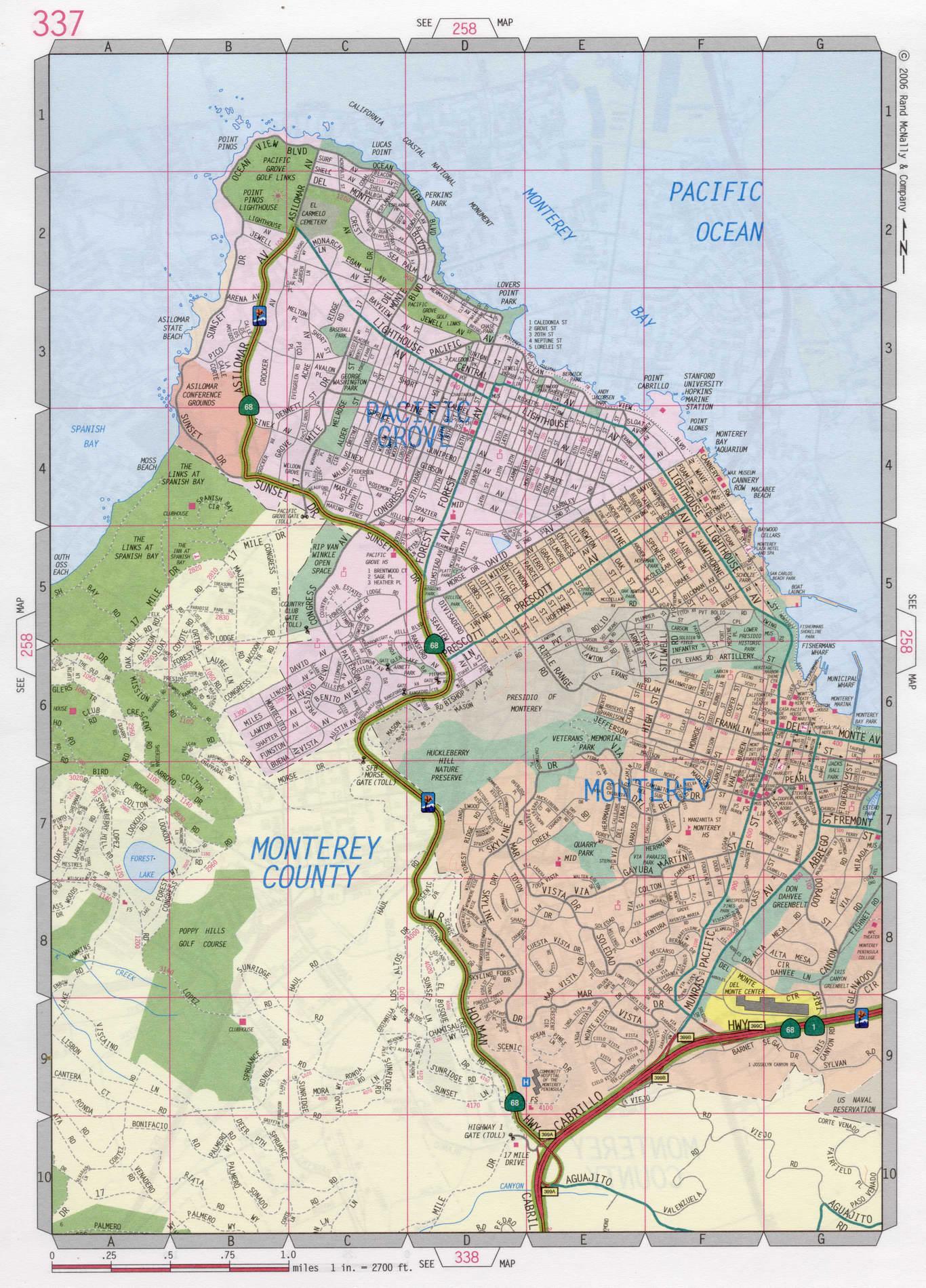 Monterey city road map