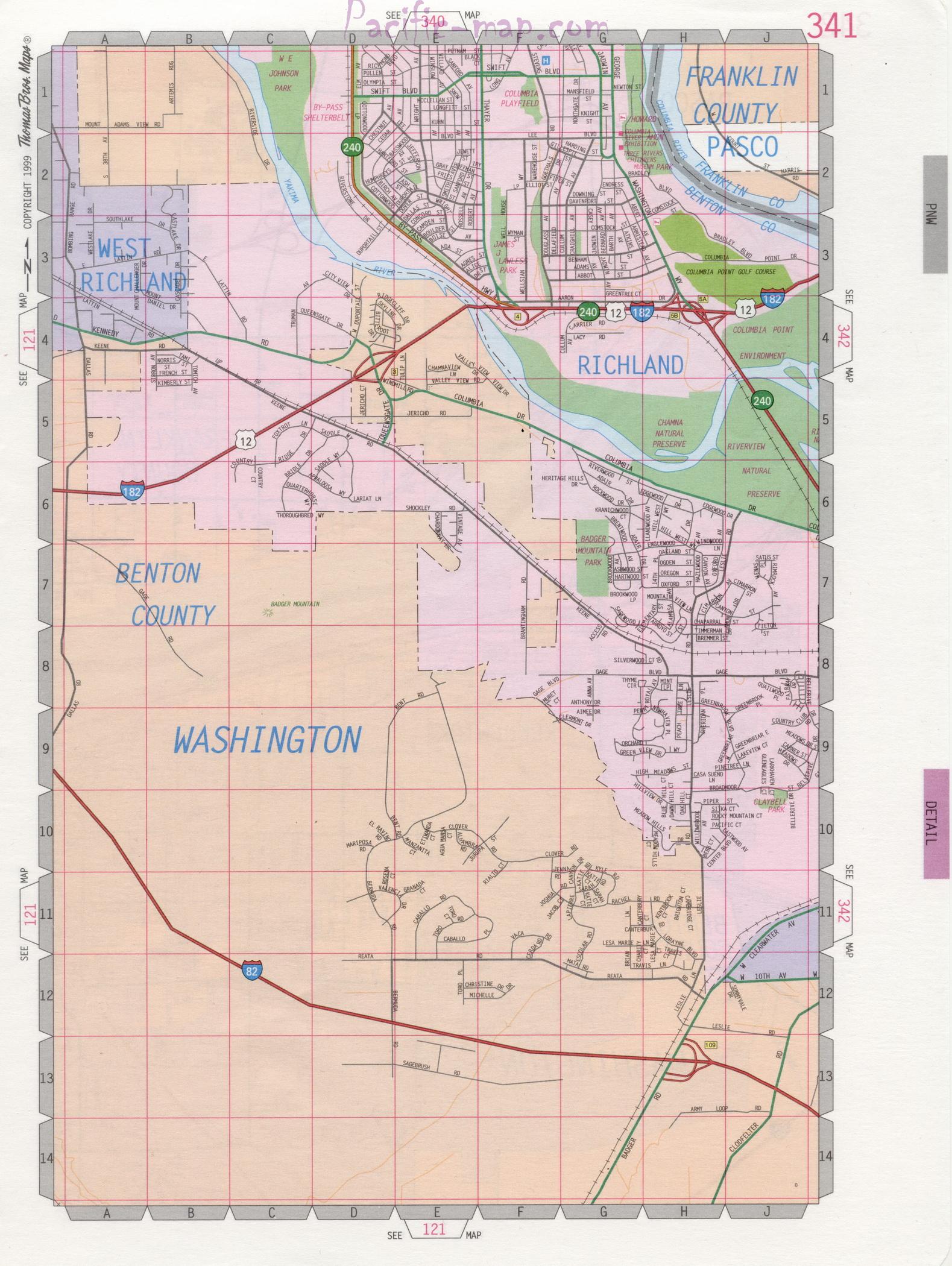 Richland WA road map