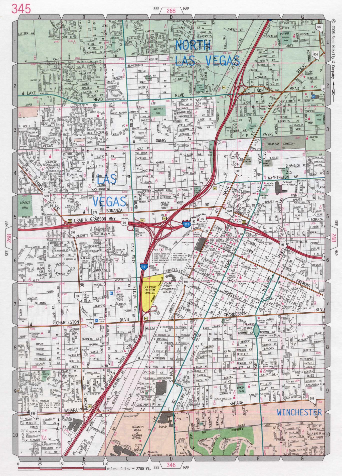 Las Vegas road map