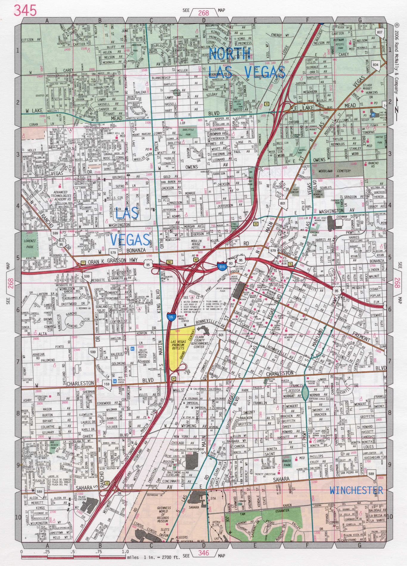 Las Vegas Street Map Las Vegas road map