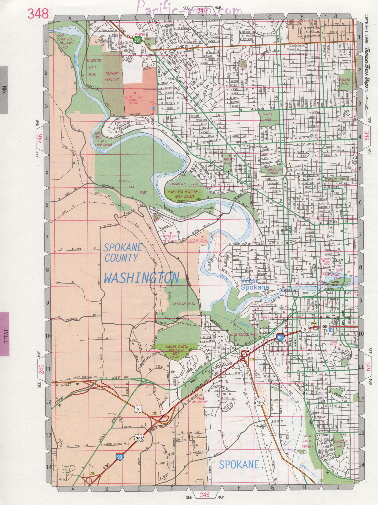 Spokane map