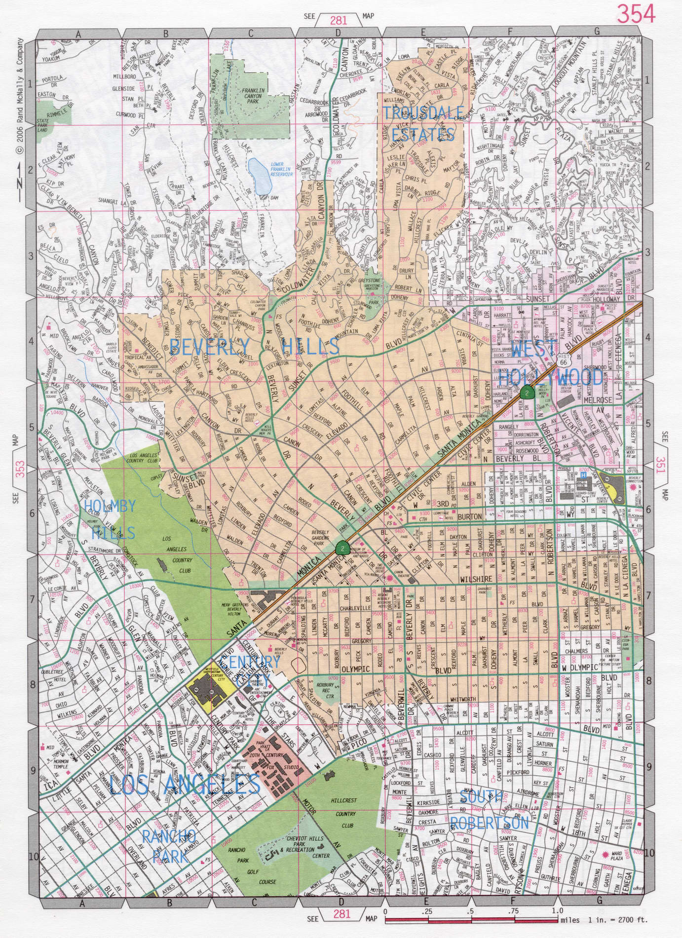 Beverly Hills Map Beverly Hills road map