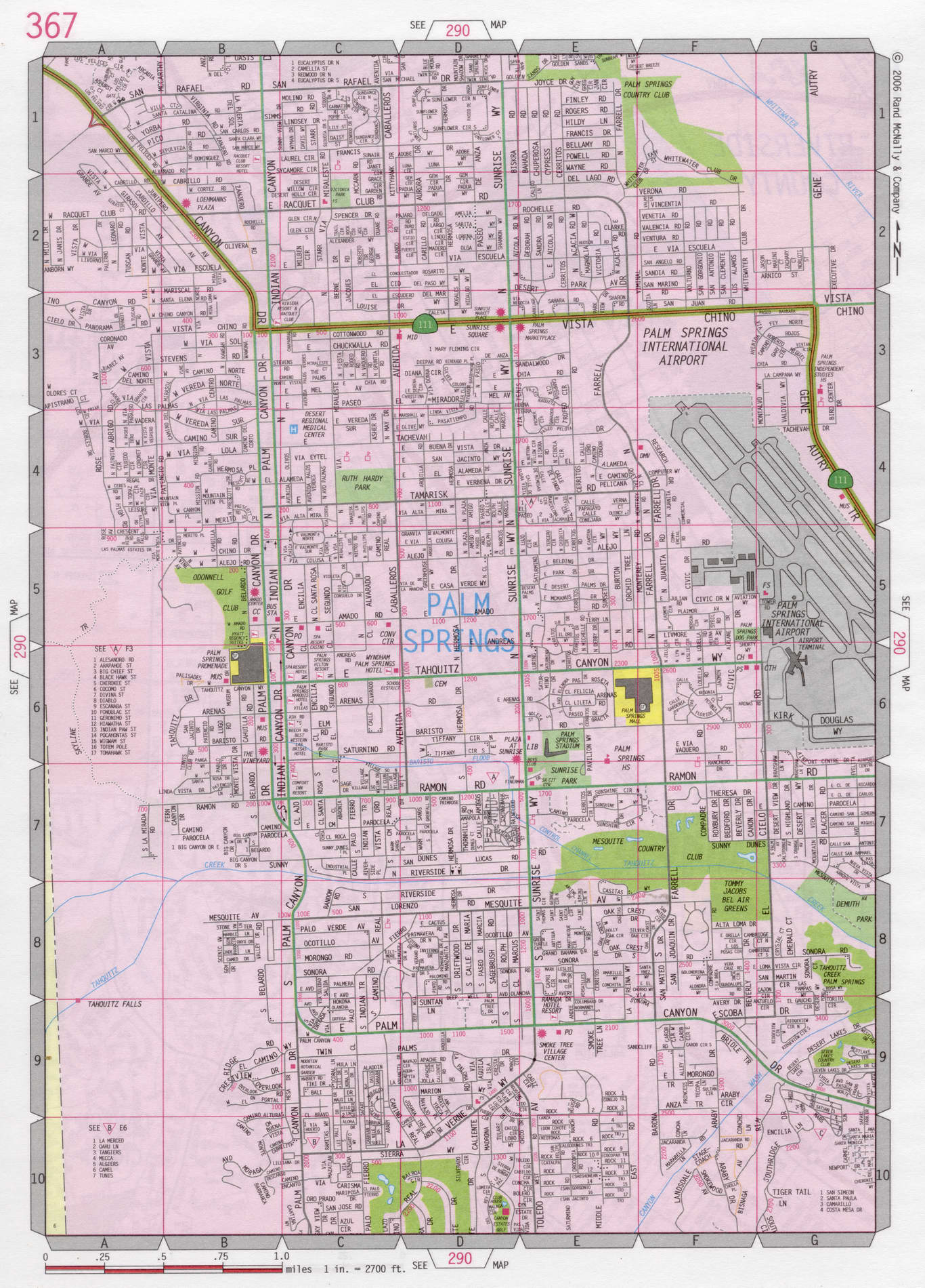 East Palo Alto Ca >> Palm Springs road map