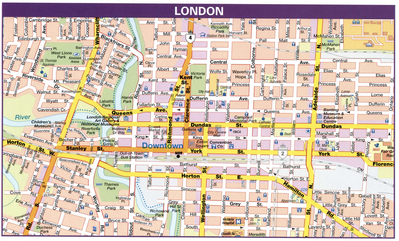 London Canada road map