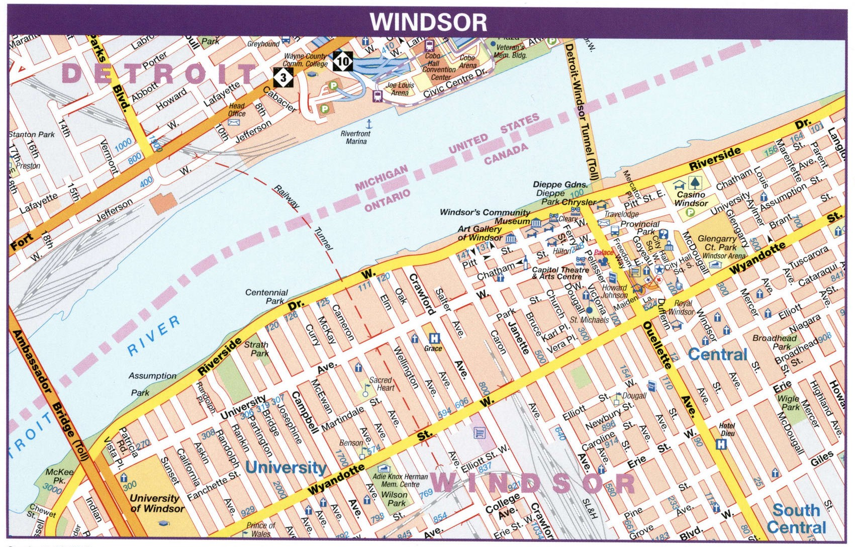 Windsor road map