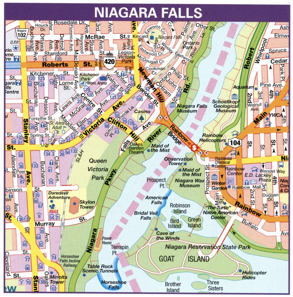 Niagara Falls road map