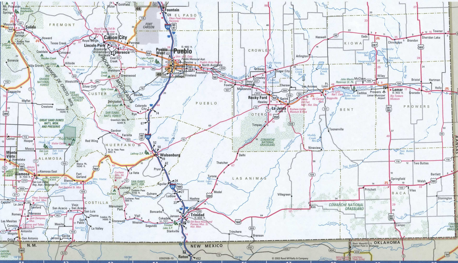 SouthEast Colorado map