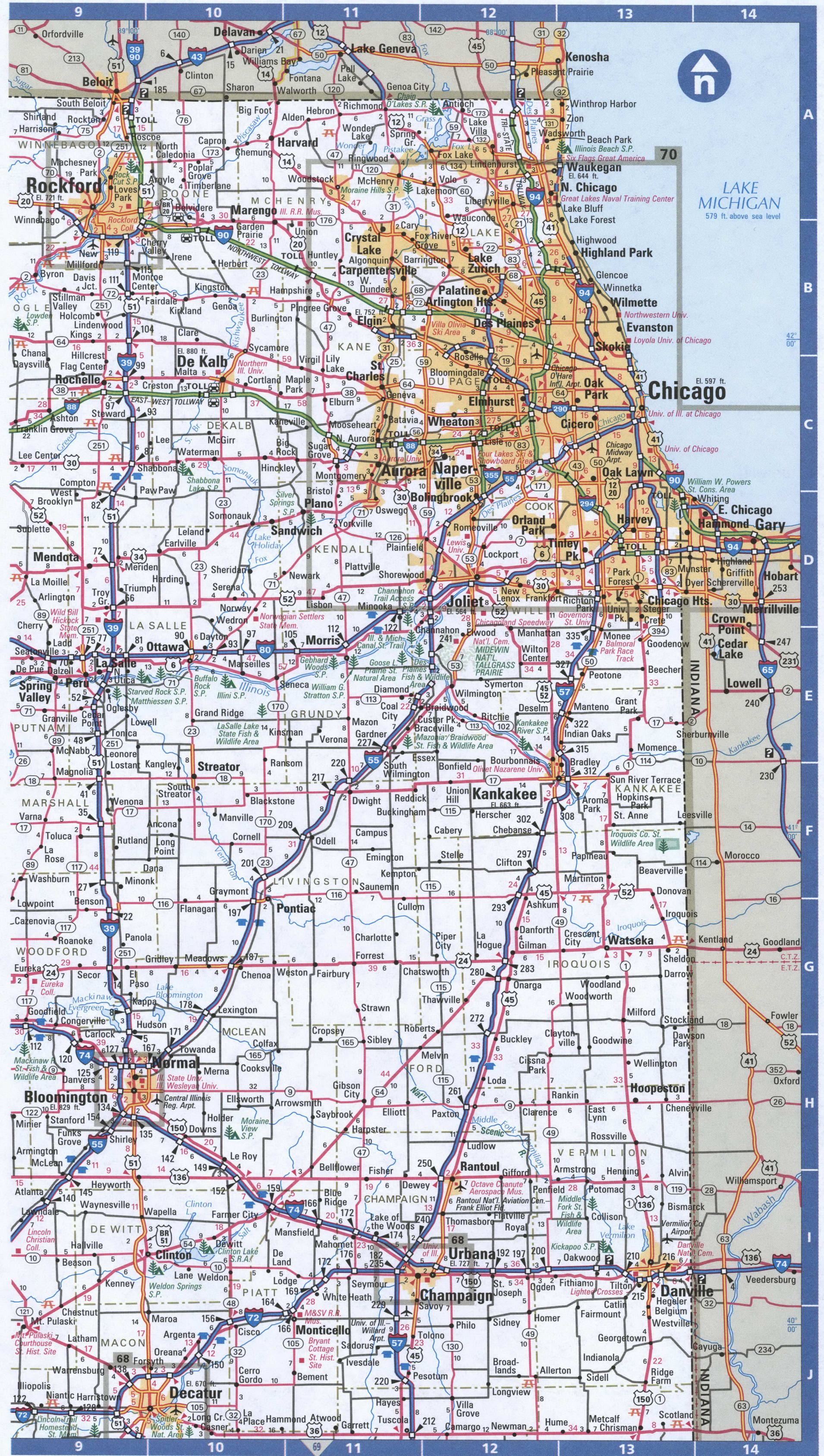 NorthEast Illinois map