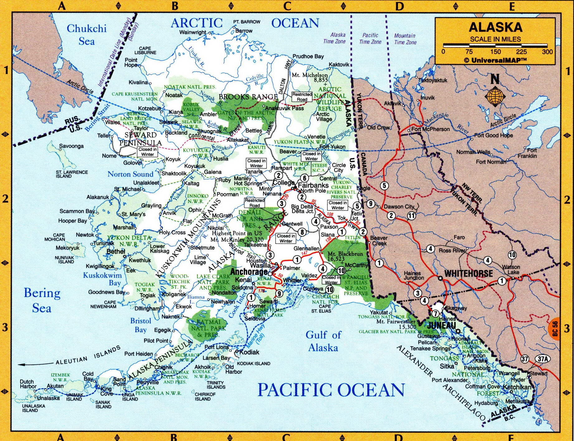 Geography map of Alaska