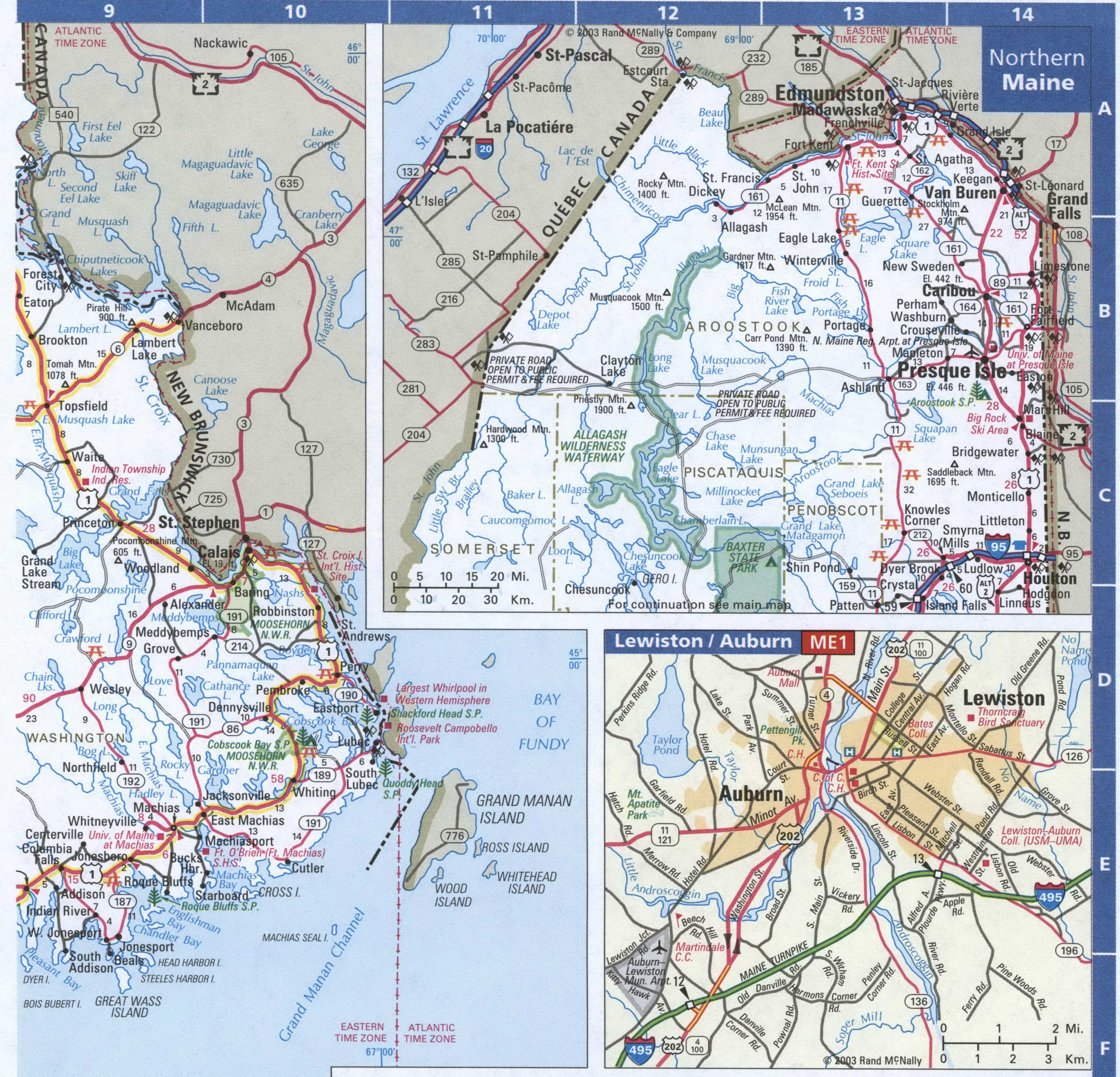 Picture of: Map Of Maine Eastern And Northern Free Highway Road Map Me With Cities Towns Counties Atlas Usa
