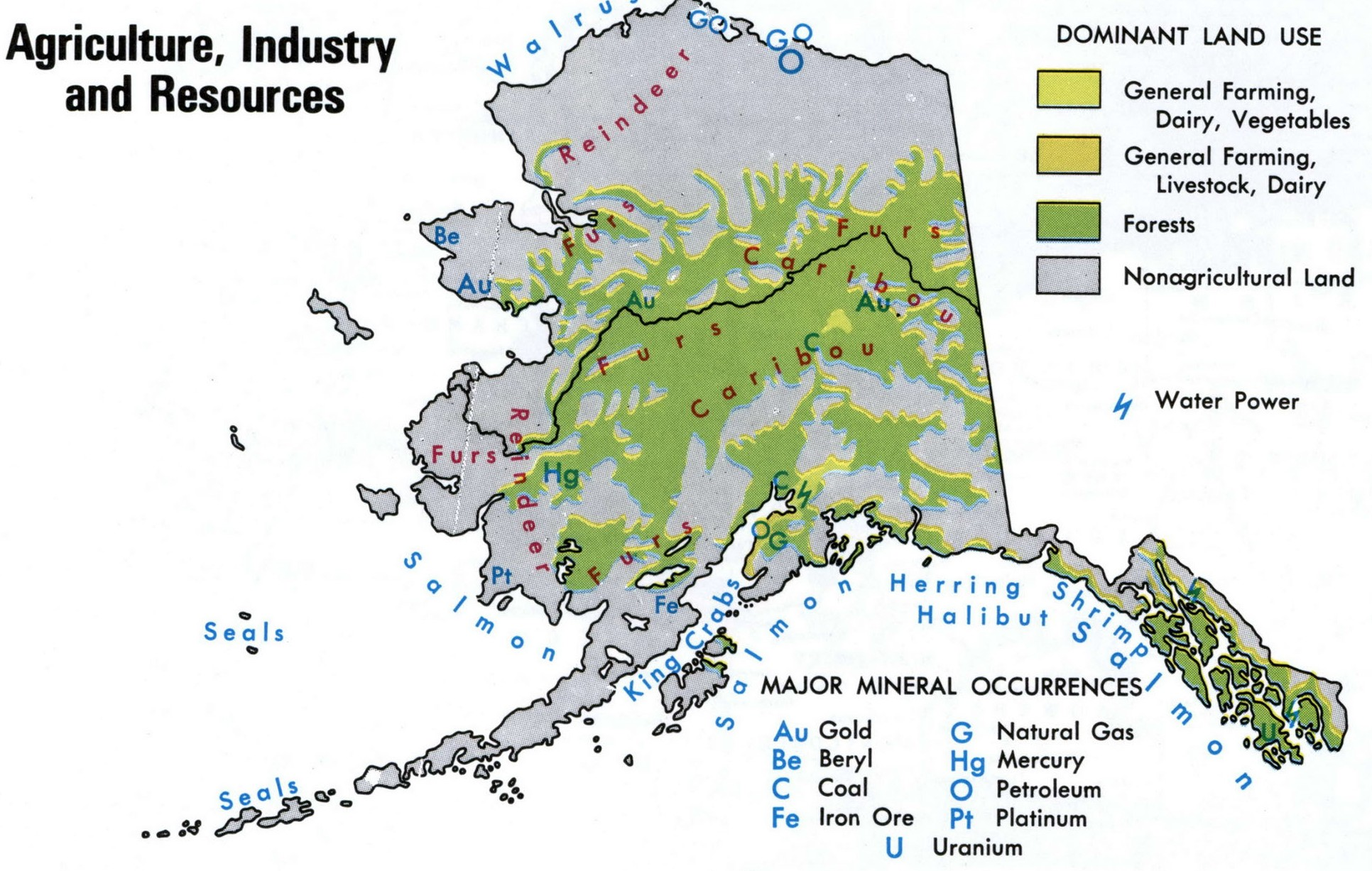 resources map of Alaska